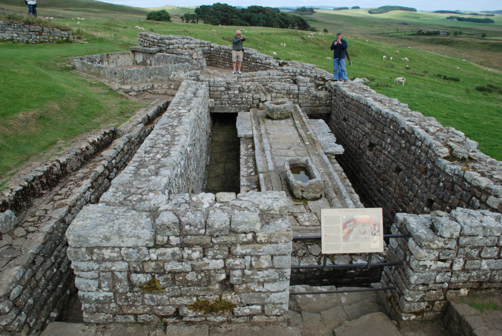 The latrines at Housesteads